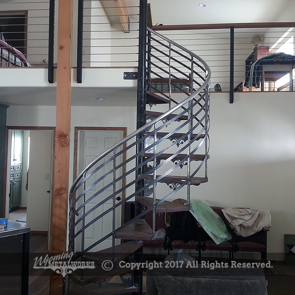 Cable Railing And Spiral Staircase